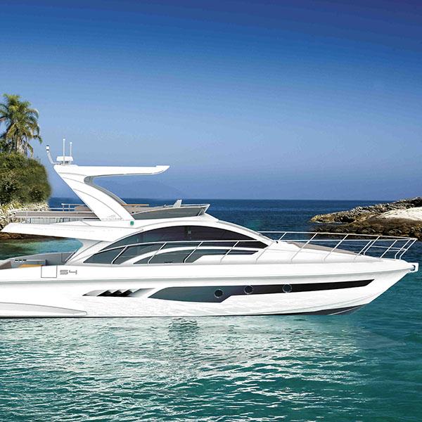 Intermarine lança nova lancha de 54 pés no São Paulo Boat Show 2015