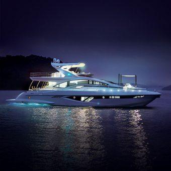 Intermarine divulga nova e bela foto do seu iate de 80 pés que estará no SP Boat Show